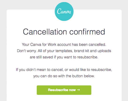 canva cancellation confirmed churn tactic